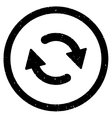 Refresh Arrows Icon Rubber Stamp vector image