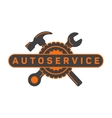 Service auto repair wrench hammer wheel logo vector image vector image
