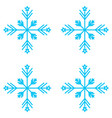 set of nine snowflakes thin vector image vector image
