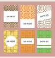 set of perfect wedding templates vector image