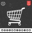 shopping cart icon shopping basket design vector image