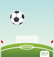 soccer ball on stadium vector image vector image