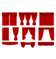 stage red curtains realistic vector image vector image