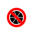 Stop basketball It is forbidden to play basketball vector image vector image