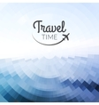 Summer travel Design Blurred pixelate sea beach vector image