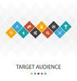 target audience trendy ui template infographics vector image vector image