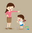 teacher scolding student girl rampage vector image vector image