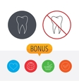 Tooth icon Dental stomatology sign vector image vector image
