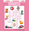 toys crossword game template vector image vector image