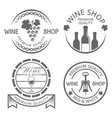 wine shop set of monochrome vintage labels vector image vector image