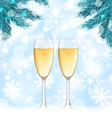 Winter Holiday Background with Glasses of vector image
