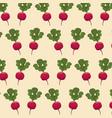 radish nutrition seamless pattern image vector image