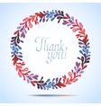 THANK YOU watercolor floral wreath Greeting card vector image