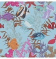 Blue sea life seamless background underwater vector image