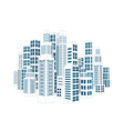 City with buildings and skyscrapers vector image