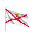 jersey national flag vector image