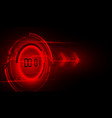 abstract futuristic technology background with vector image vector image