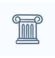 Ancient column sketch icon vector image vector image