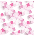 Background seamless pattern with pink sakura vector image vector image