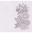 Beautiful floral elements in indian mehndi vector image vector image