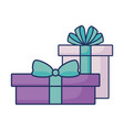 birthday gift boxes surprise vector image
