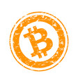 bitcoin rubber stamp vector image
