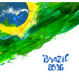 brazilian watercolor flag vector image vector image