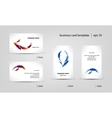 business card template set vector image vector image