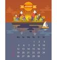 Calendar of september vector image vector image