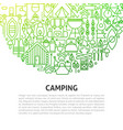 camping line concept vector image