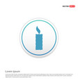 candle icon - white circle button vector image