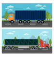 Cargo Transportation Truck and Trailer Delivery vector image vector image