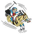 cartoon equestrian polo vector image
