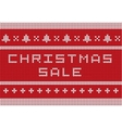 Christmas knitted sweater style sale banner vector image