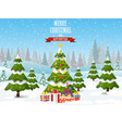 christmas tree on the background vector image vector image