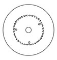 circular disk icon black color in round circle vector image