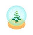 Crystal christmas ball icon cartoon style vector image