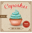 Cupcake cafe poster vector image vector image