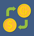 Currency exchange Dollar and Guarani vector image vector image