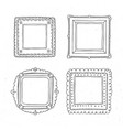 decorative template photo frames vector image vector image