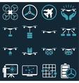 Drone shipment icon set vector image