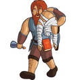 drunken red-haired healer vector image vector image