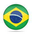 flag of brazil shiny round button vector image