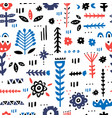 folk art pattern vector image vector image