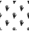 Hand icon in black style isolated on white vector image vector image