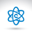 Hand-painted simple molecule model icon isolated vector image