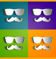 hipster design collection vector image