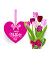 holiday mothers day isolated vector image vector image