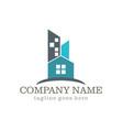 home building cityscape company logo vector image vector image