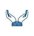 human hands design vector image vector image